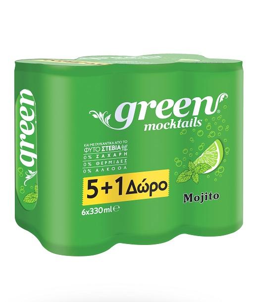 Mocktail Mojito Green (6x330 ml) 5+1 Δώρο