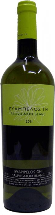 Οίνος Λευκός Sauvignon Blanc Ευάμπελος Γη (750 ml)