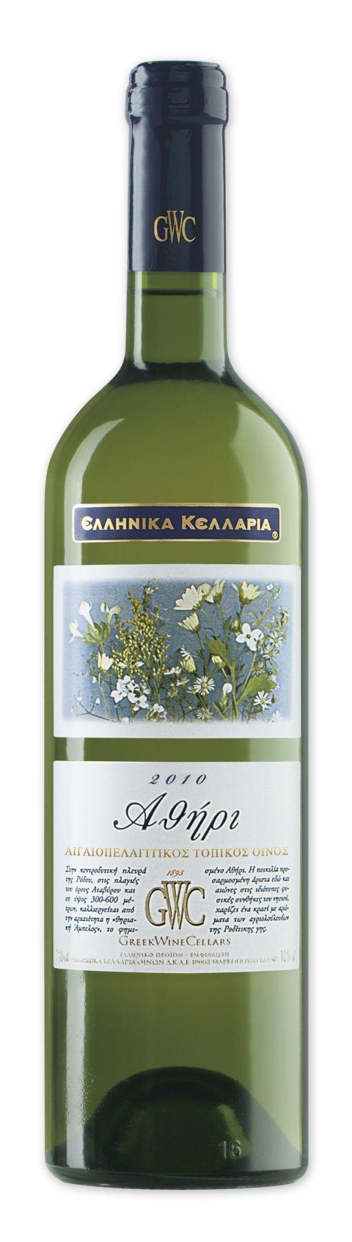 Οίνος Λευκός Αθήρι Αιγαιοπελαγίτικο Ελληνικά Κελάρια (750 ml)