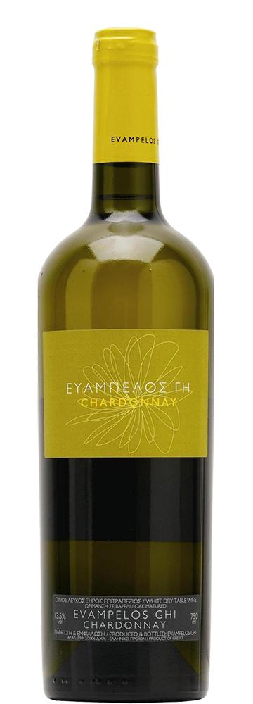 Οίνος Λευκός Chardonnay Ευάμπελος Γη (750 ml)
