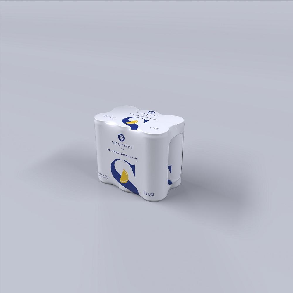 Νερό Φυσικό Μεταλλικό Ανθρακούχο με άρωμα Λεμόνι Σουρωτή (6x330 ml)