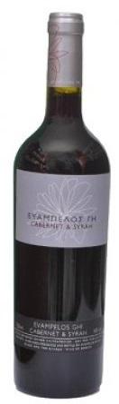 Οίνος Ερυθρός Cabernet Syrah Ευάμπελος Γη (750 ml)