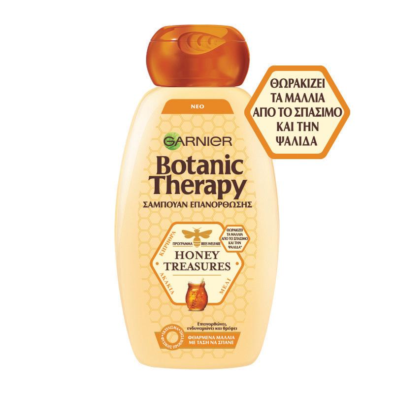 Σαμπουάν Επανόρθωσης Honey Treasures Botanic Therapy Garnier (2x400ml) 1+1 Δώρο