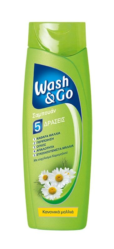 Σαμπουάν για Κανονικά Μαλλιά Wash & Go (400 ml) 1+1