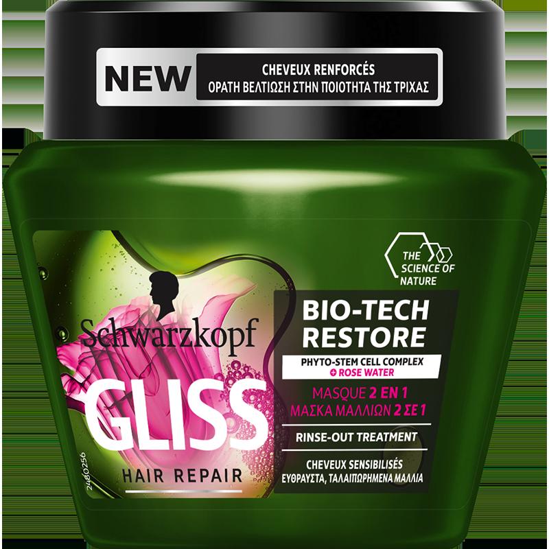 Μάσκα Μαλλιών Bio-Tech Restore για Εύθραστα και Ταλαιπωρημένα Μαλλιά Gliss (300ml)