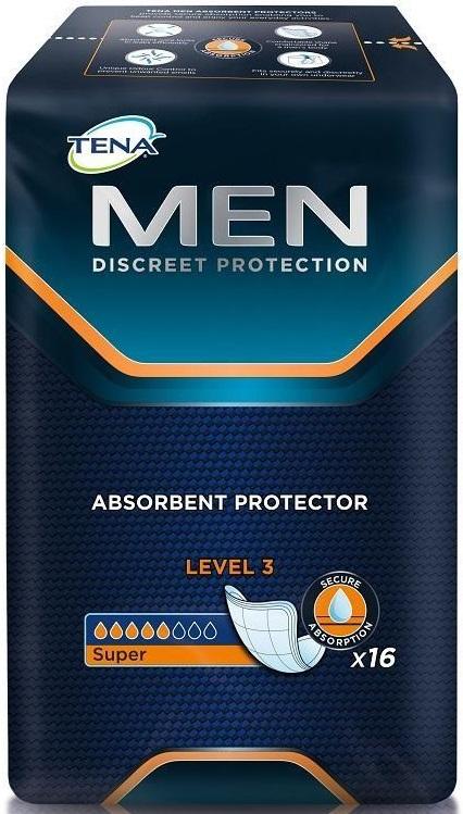 Επιθέματα Ακράτειας για άνδρες Level 3 Tena (16 τεμ)