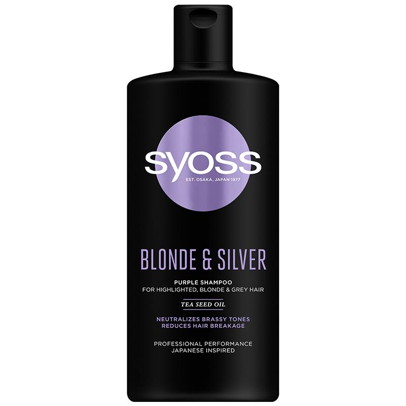 Σαμπουάν Blonde & Silver για Ξανθά, Λευκά ή με Ανταύγειες Μαλλιά Syoss (440ml)