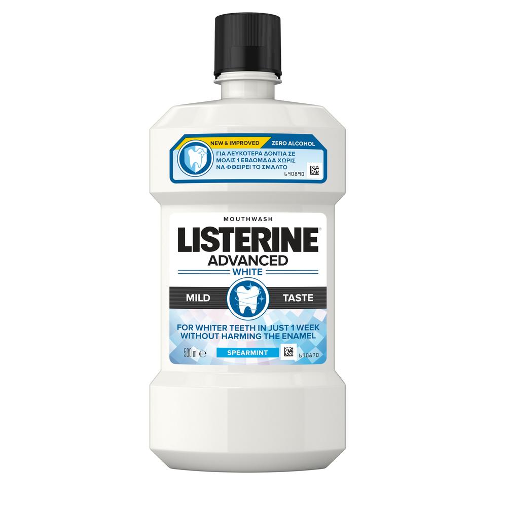 Στοματικό Διάλυμα με Ήπια Γεύση Advanced White Listerine (500ml)