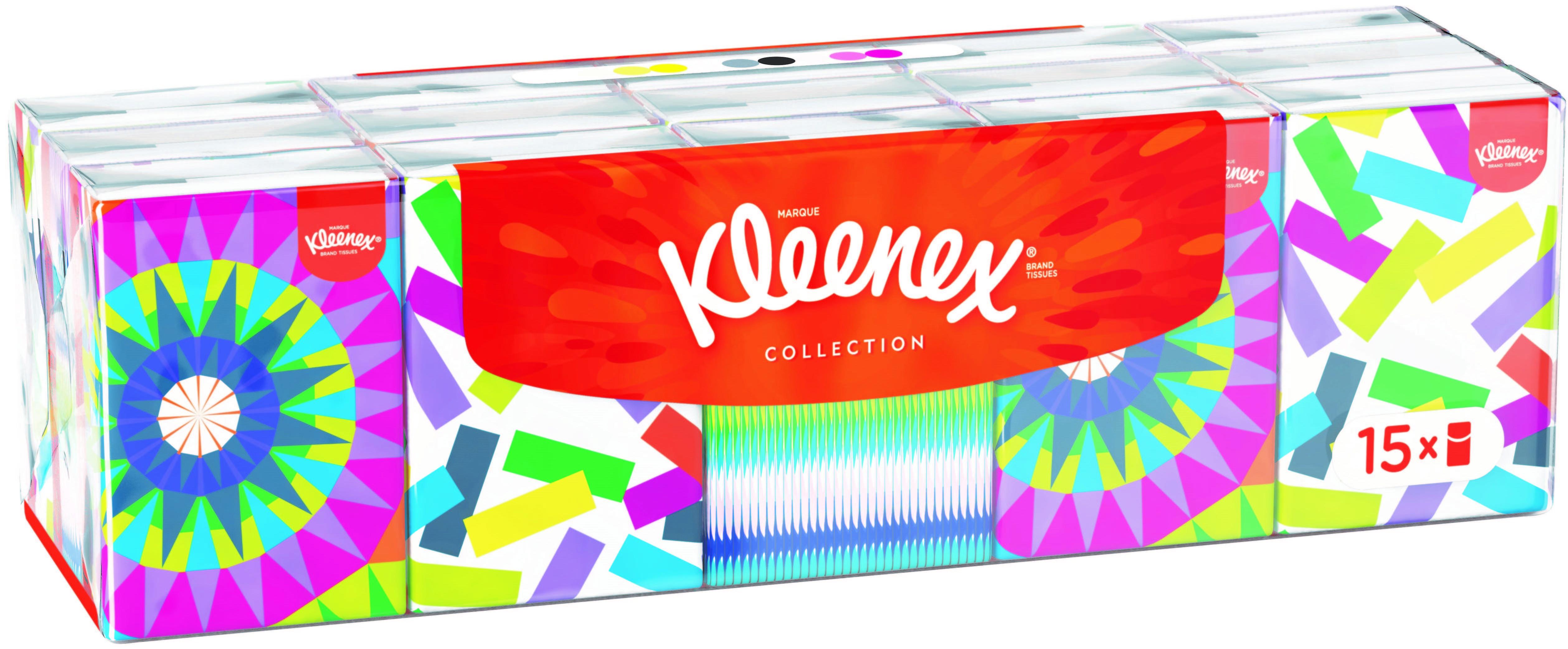 Χαρτομάντηλα τσέπης Collection Mini Kleenex (235 g/15 πακέτα)