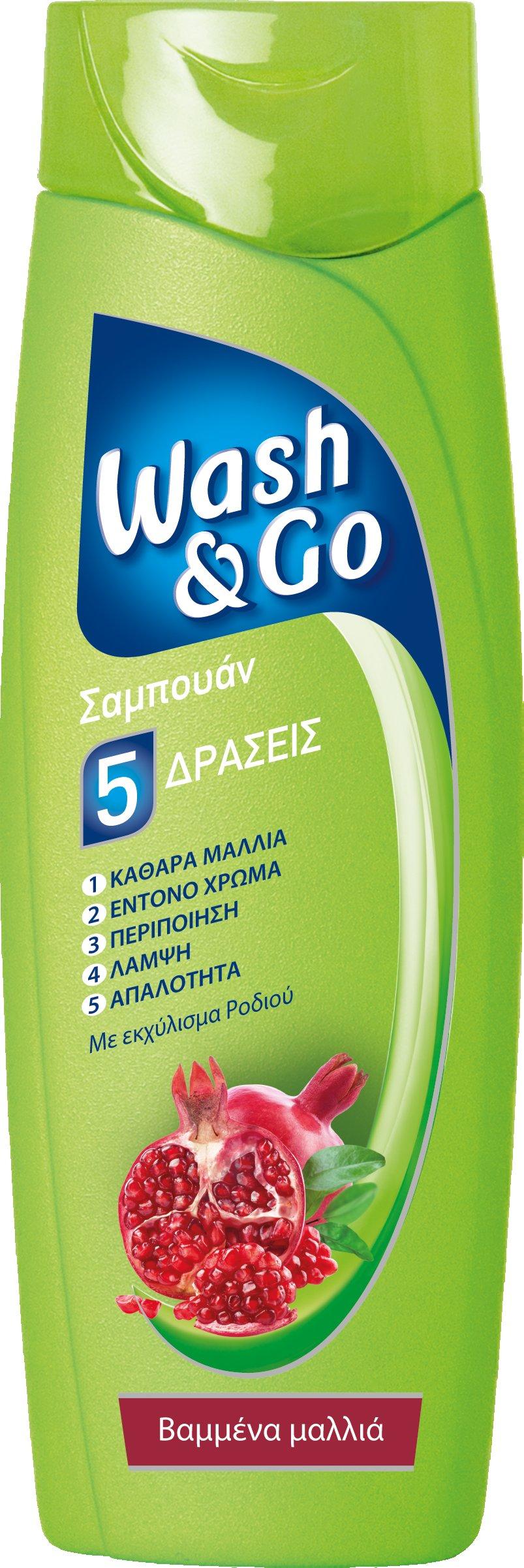 Σαμπουάν για Βαμμένα Μαλλιά Με Εκχύλισμα Ροδιού Wash & Go (400 ml) 1+1