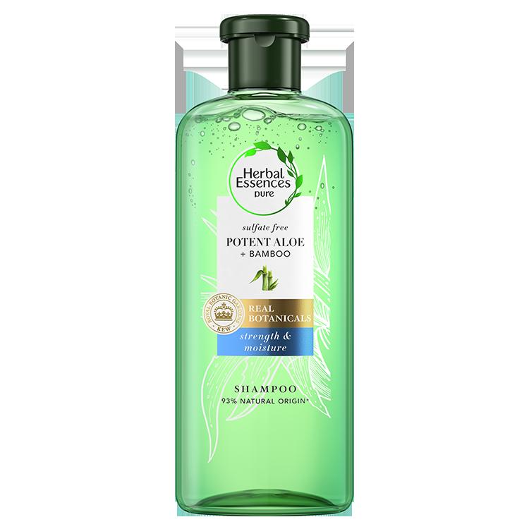 Σαμπουάν Καθαρισμού Potent Aloe & Bamboo Herbal Essence Pure (2x380ml) 1+1 Δώρο