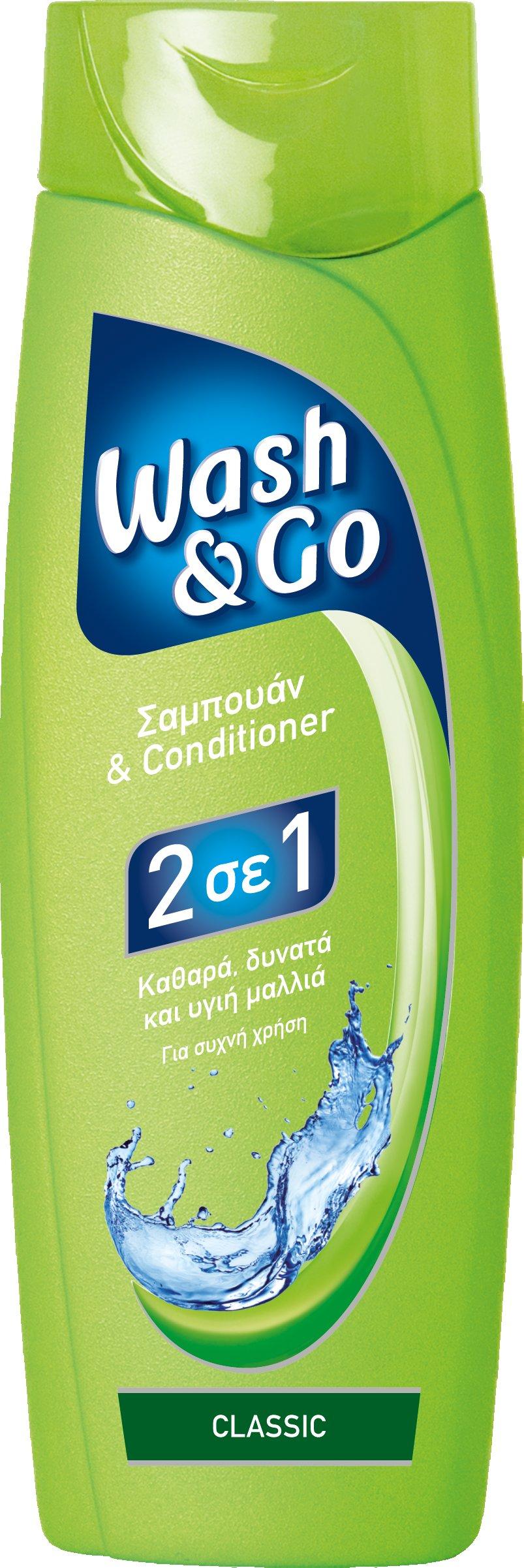 Σαμπουάν για συχνή χρήση Classic Wash & Go (400 ml) 1+1