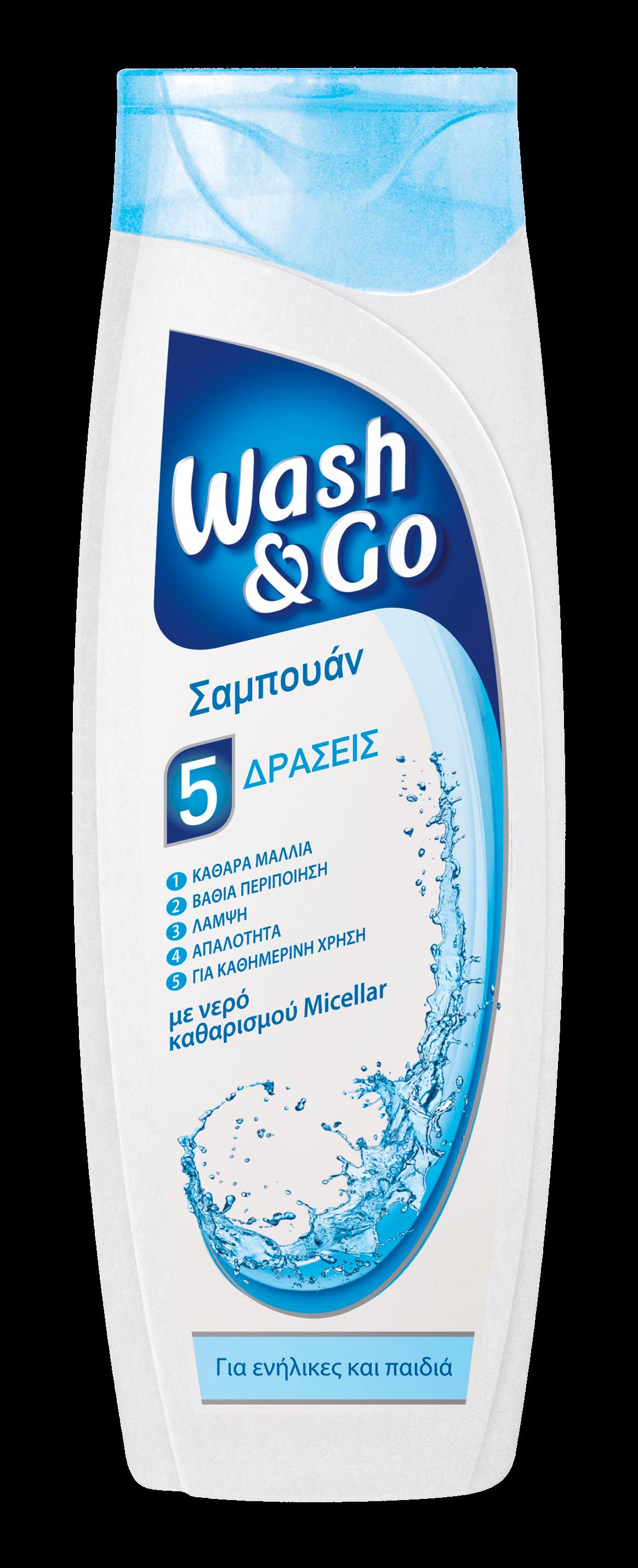 Σαμπουάν για Κανονικά Μαλλιά με νερό καθαρισμού Micellar Wash & Go (400 ml) 1+1