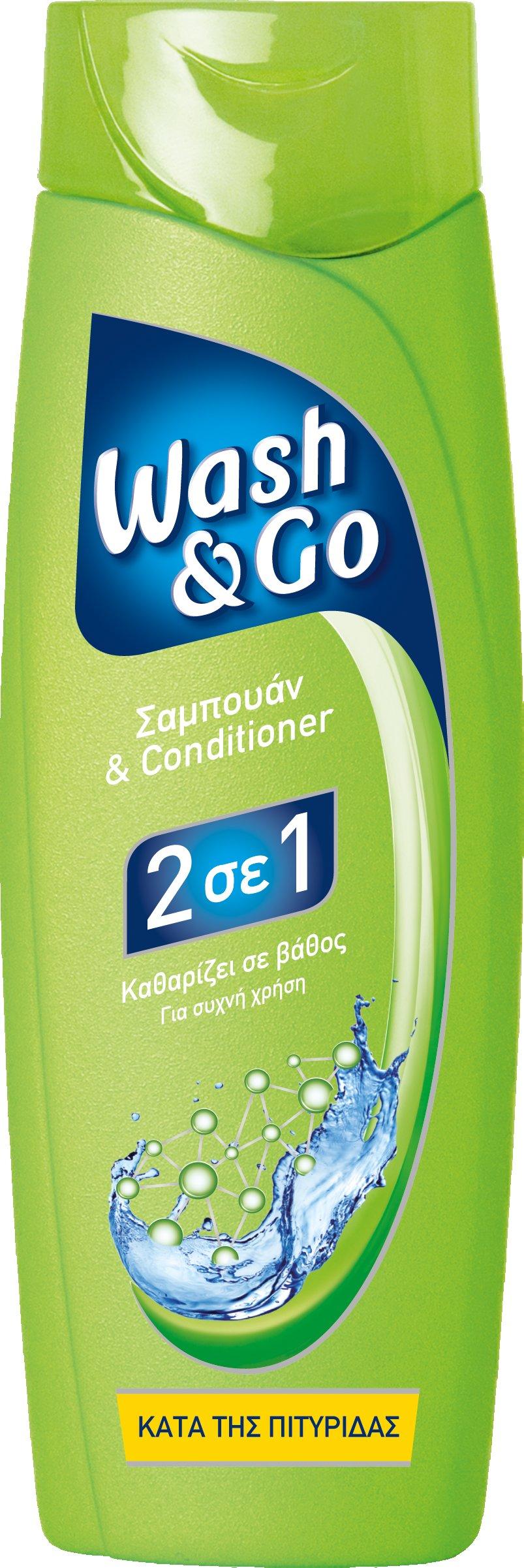 Σαμπουάν κατά της πιτυρίδας Wash & Go (400 ml) 1+1