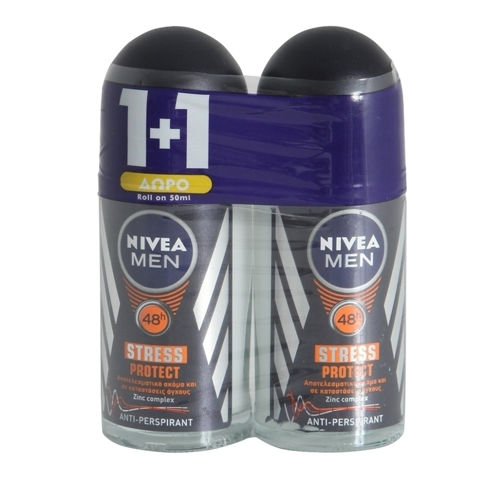 Αποσμητικό Roll-On Stress Protect Nivea (50 ml) 1+1 Δώρο