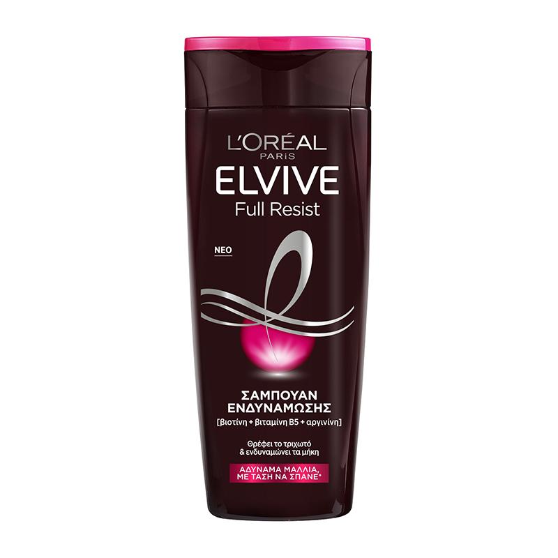 Σαμπουάν για Αδύναμα Μαλλιά με Τάση να Σπάνε Full Resist Elvive L'Oreal (2x400ml) 1+1 Δώρο