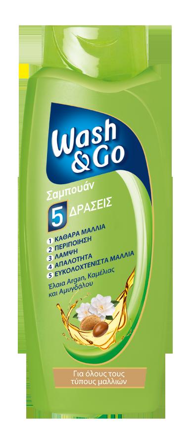 Σαμπουάν για όλους τους τύπους Μαλλιών Wash & Go (400 ml) 1+1