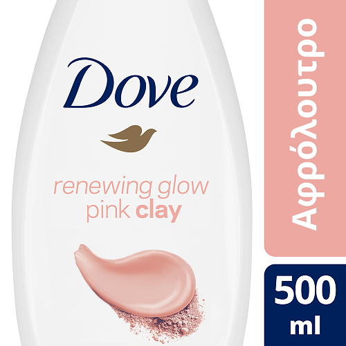 Αφρόλουτρο Renewing Glow Pink Clay Dove (500ml)