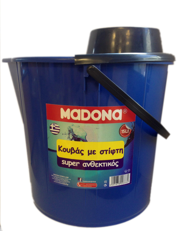 Κουβάς Στρογγυλός με Στίφτη Μπλε Madona (15 lt)