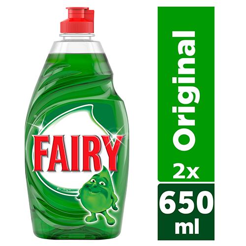 Υγρό Πιάτων Original Ultra Fairy (2x650ml) το 2ο τεμ -40%
