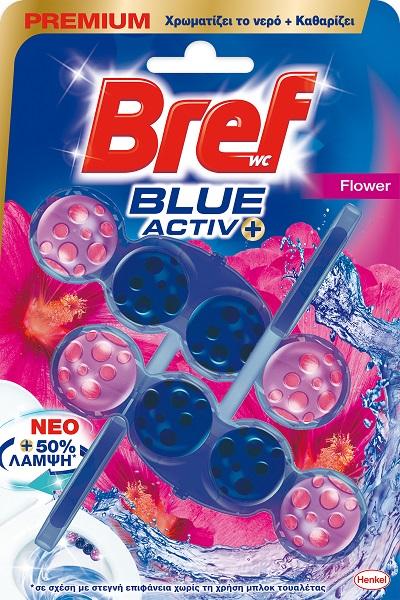 Μπλοκ Τουαλέτας Blue Activ Floral Bref Wc (2x50g)