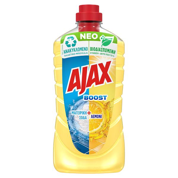 Υγρό Καθαριστικό Boost Λεμόνι Ajax (1lt)