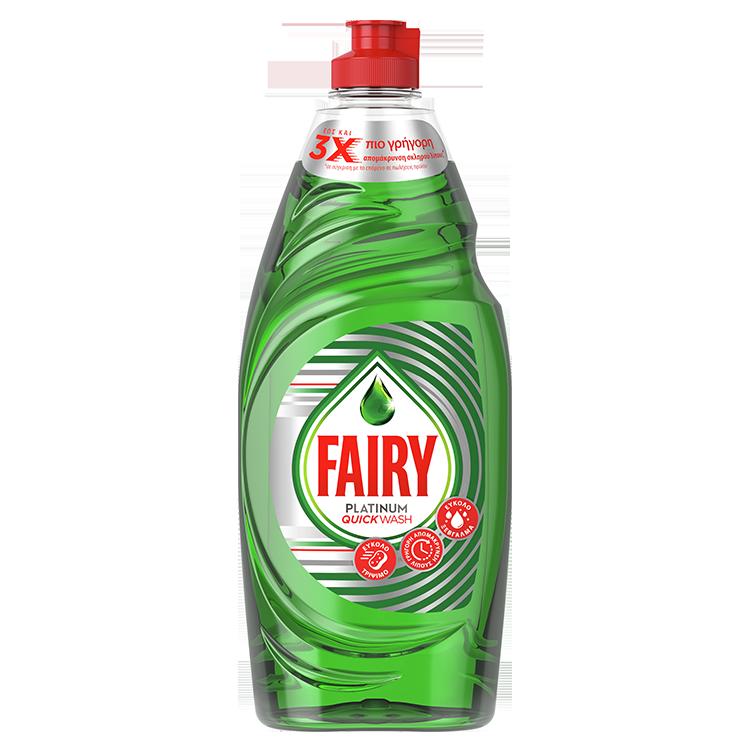 Υγρό Πιάτων με Γρήγορη Δράση Platinum Quickwash Fairy (654ml)