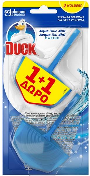 Block για τον Καθαρισμό της Λεκάνης Τουαλέτας Aqua Blue 4in1 Duck (2x40g) 1+1 Δώρο