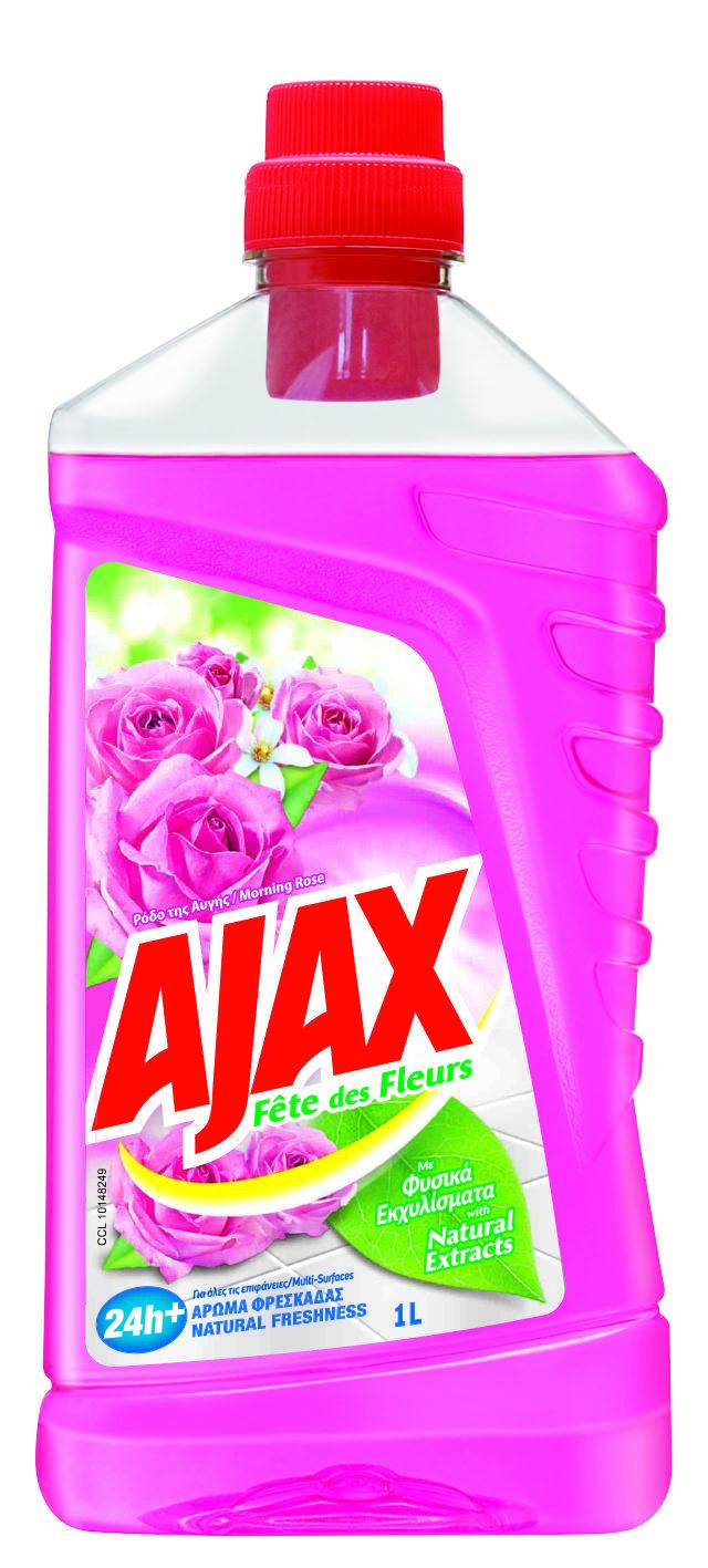 Υγρό Καθαριστικό Ρόδο της Αυγής Fete des Fleurs Ajax (1 lt)