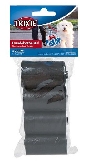 Σακούλες Περιττωμάτων Μαύρες Trixie (4x20τμχ)