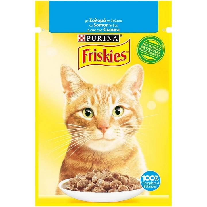 Τροφή για Γάτες με Σολομό σε Σάλτσα Friskies (85 g)