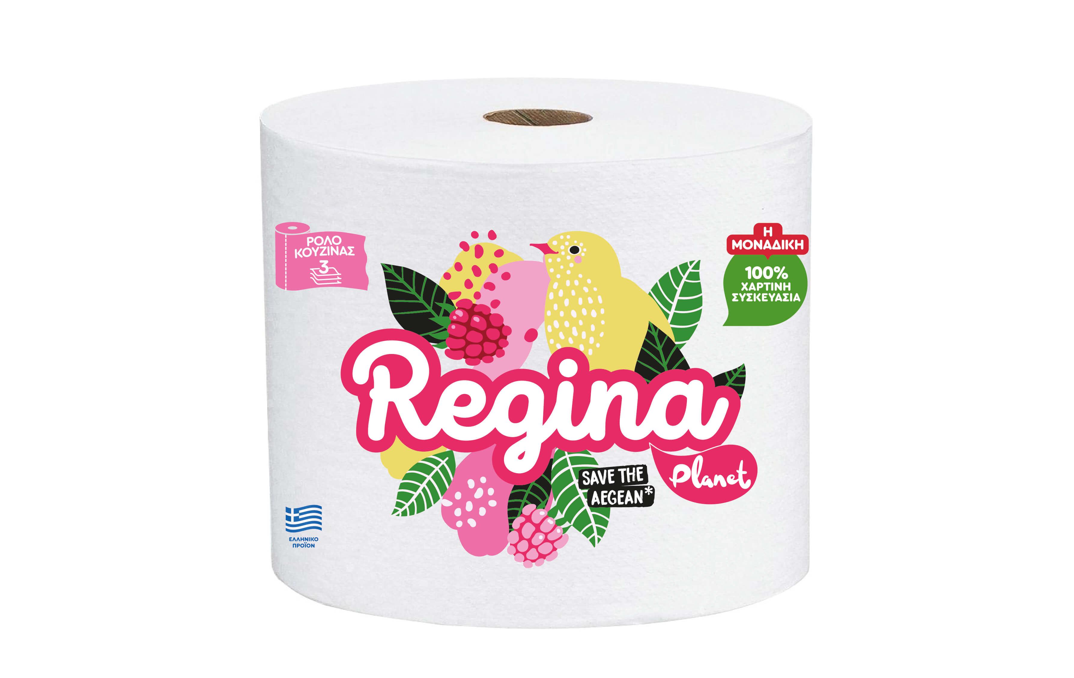 Χαρτί Κουζίνας 3φυλλο Regina Planet (1 τμχ / 500g)