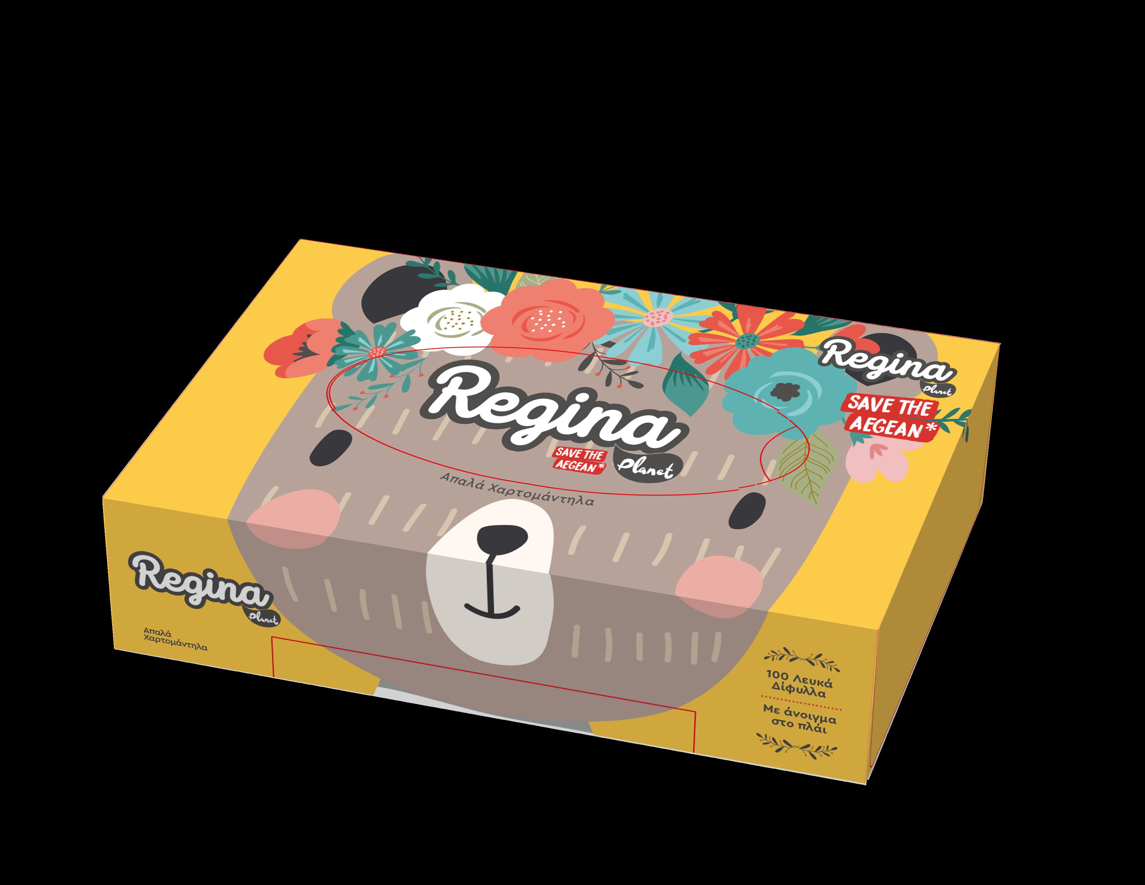 Χαρτομάντηλα Facial 2φυλλο Regina Planet (1 τμχ)