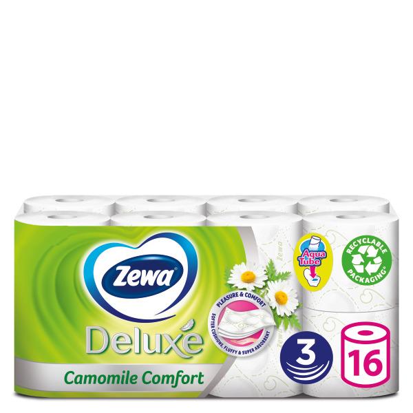 Ρολό Υγείας 3φύλλο Camomile Comfort Deluxe Zewa (16 ρολά *91g)