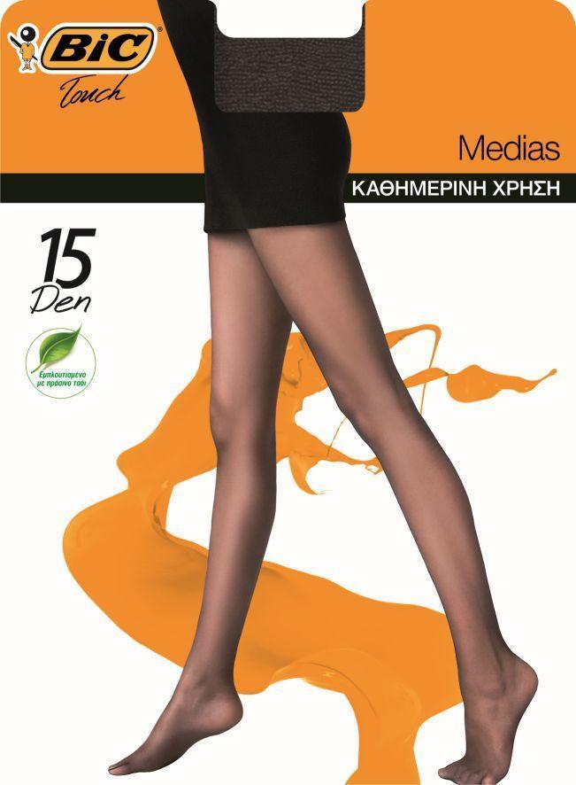 Καλσόν Medias 15Den S Μαύρο Bic