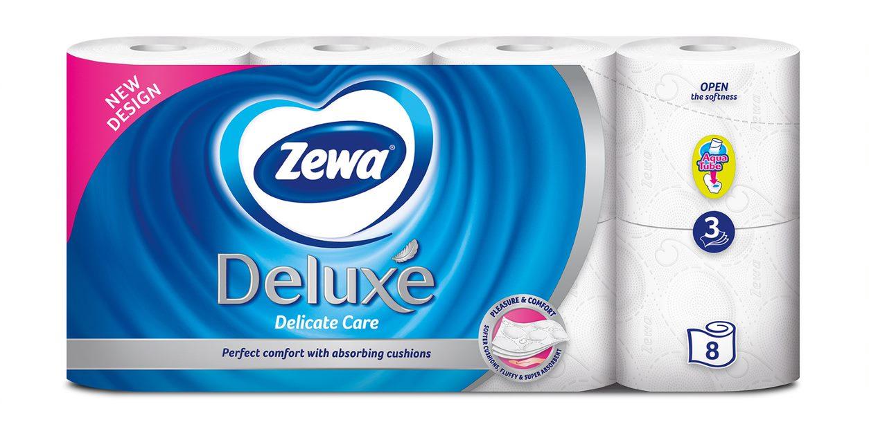 Ρολό Υγείας Deluxe Delicate Care Zewa (8 τεμ/96gx8)
