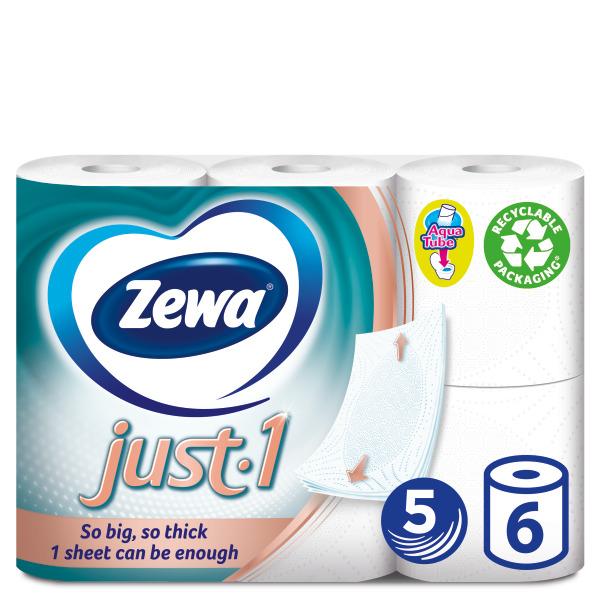 Ρολό Υγείας 5φύλλο Just-1 Zewa (6ρολά*125g)