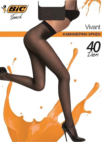 Καλσόν Vivant 40D XL Μαύρο Bic