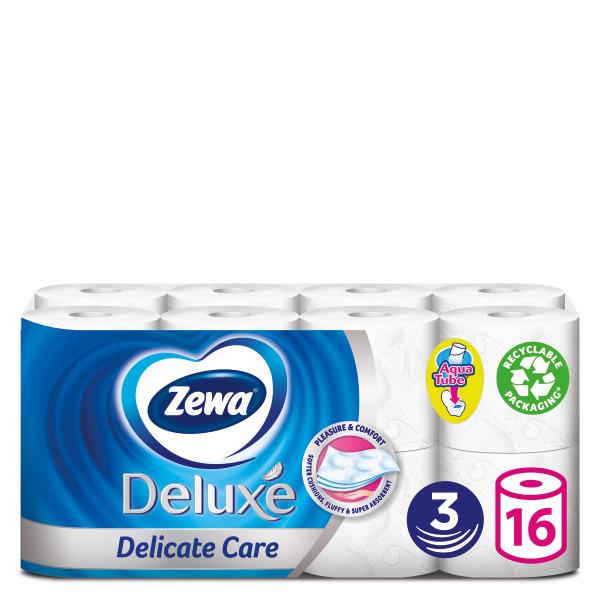 Ρολό Υγείας 3φύλλο Delicate Care Deluxe Zewa (16ρολά*91g)