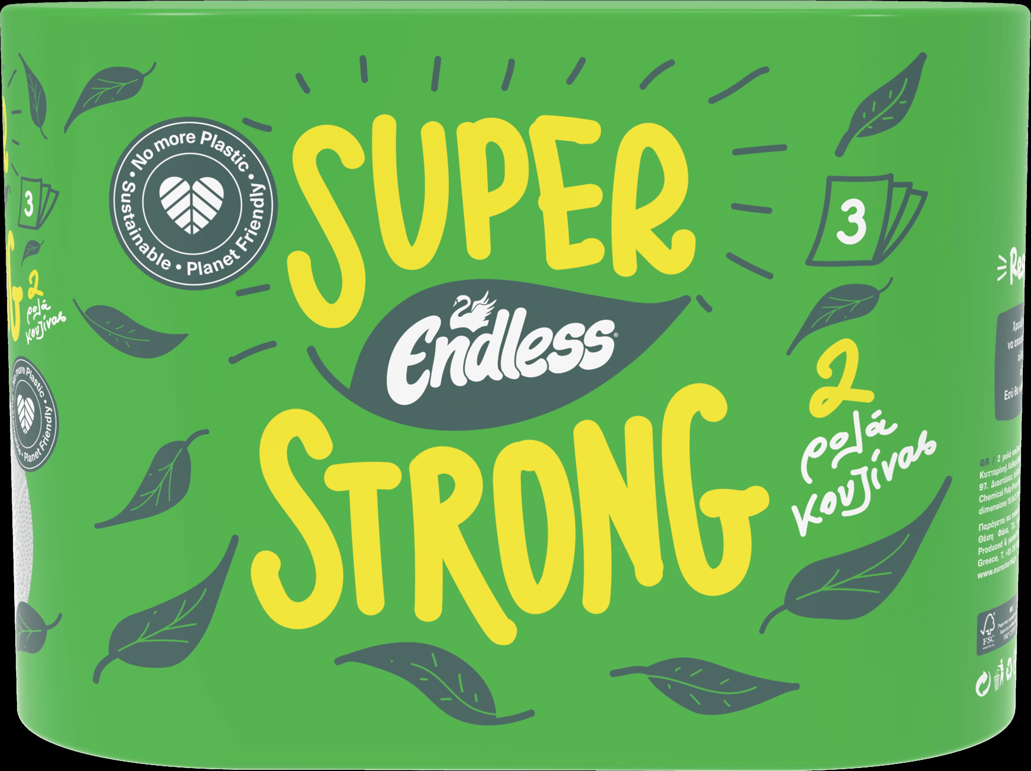 Χαρτί Κουζίνας 3φύλο Super Strong (2 ρολά)