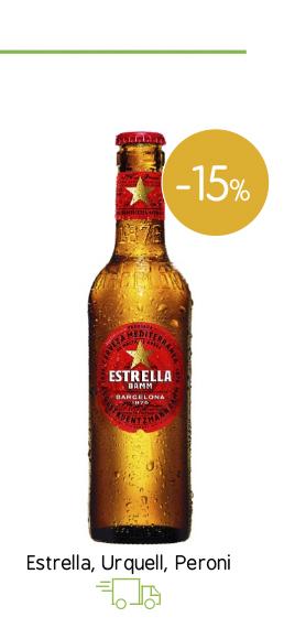 Μπύρες Estrella, Urquell , Peroni